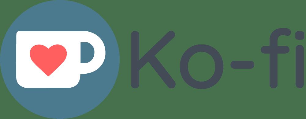 Ko-fi logo.